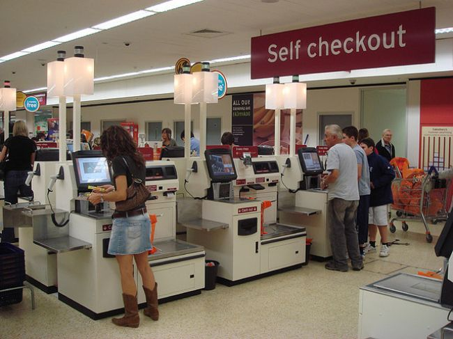 Self checkouts are great for social distancing