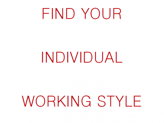 Find your Individual Working Style - Questionnaire